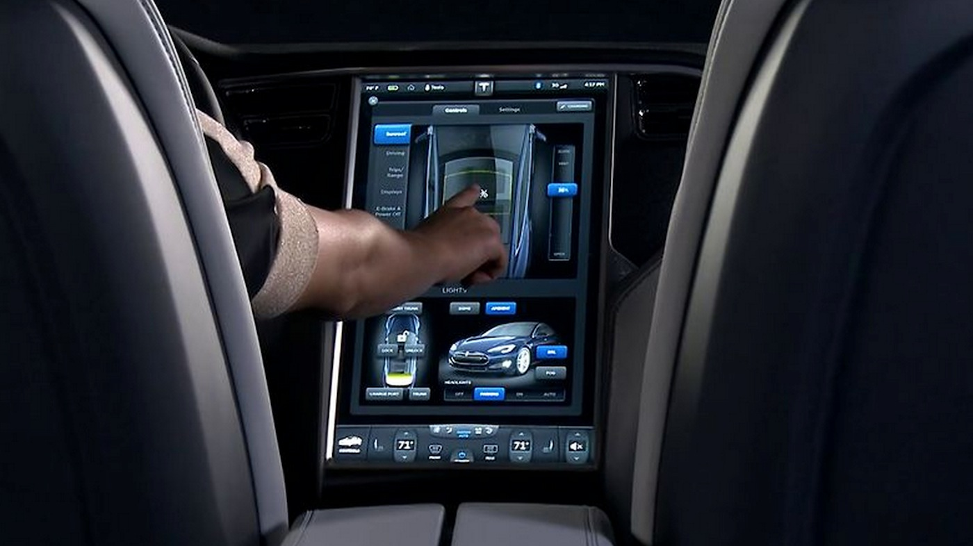 Tesla Automatic Car Display 38 Wide Car Wallpaper - CarWallp